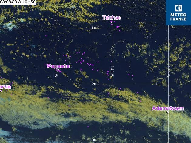 GOES - Polinezija - infraraudonųjų spindulių