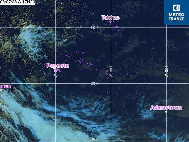 GOES - Polynésie - infračervené